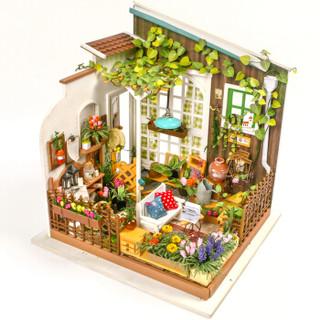 若态 积木玩具 立体木质拼图 拼装模型手工制作小屋-米勒花园 DG108 *2件