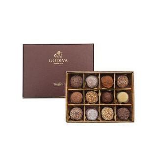 歌帝梵(GODIVA)巧克力礼盒 松露形巧克力礼盒12颗装 5000626