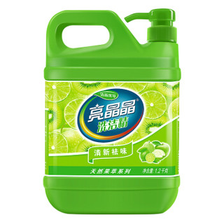 亮晶晶 清新果萃洗洁精清爽温和去油污不伤手  1.2kg*1瓶 *2件