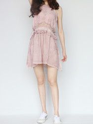 TOPSHOP 10I06LPNK 女士蕾丝吊带连衣裙