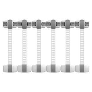 攸曼诚品(eudemon)6个装灰色儿童安全锁抽屉锁冰箱锁马桶锁多功能安全锁柜门柜子锁扣 防夹手 *5件