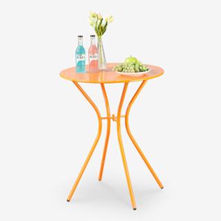 好事达 阳台桌椅 露天室外茶水圆桌橙色2933