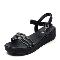 BeLLE 百丽 BNL38BL7 女士凉鞋
