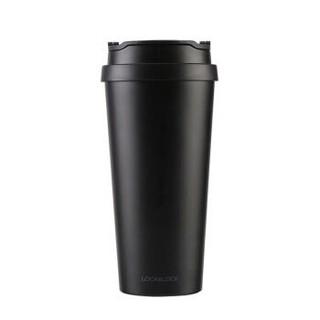 乐扣乐扣(LOCK&LOCK) 不锈钢保温杯 车载翻口盖水杯 商务咖啡杯540ml黑LHC4151BLK *2件