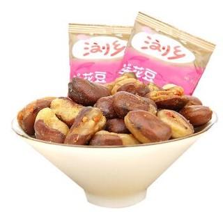 浏乡 坚果炒货 零食蚕豆兰花豆 香辣味  280g/袋 *5件