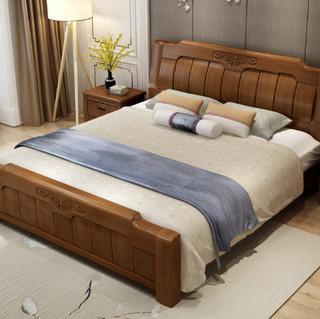 忆斧至家  中式实木床 1.8米