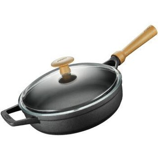 爱仕达 平底锅/煎锅 26cm铸铁木柄明火专用JF26V1WG 古道生态煎锅
