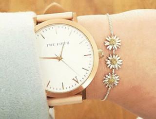 DAISY WELLBEING 雏菊系列 925纯银18K镀金 手链