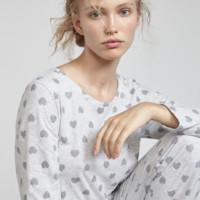 OYSHO 30403923812 女士心形印花睡衣T恤