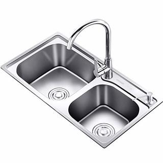 KEGOO 科固 K10002 厨房水槽双槽套装