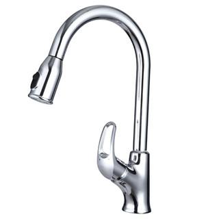 九牧33053-208/1B2-Z 全铜主体厨房龙头 单把冷热水抽拉式水龙头