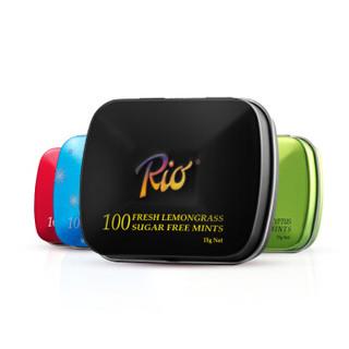 Rio 无糖清凉口香糖 铁盒 柠檬香草+皓洁冰爽+尤加利绿茶+高山红莓