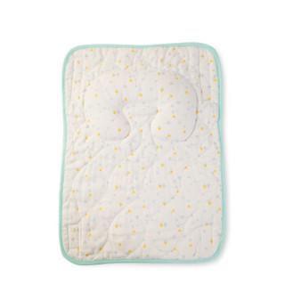 全棉时代(PurCotton)浅蓝三角婴儿多用枕33x23cm, 1件装