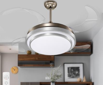 HD 风扇吊灯 可伸缩隐形扇叶 带遥控