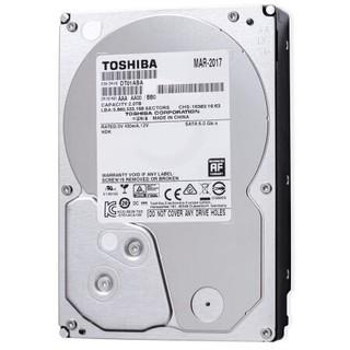 6日0点 : TOSHIBA 东芝 2TB 5700转32M SATA3 监控级硬盘
