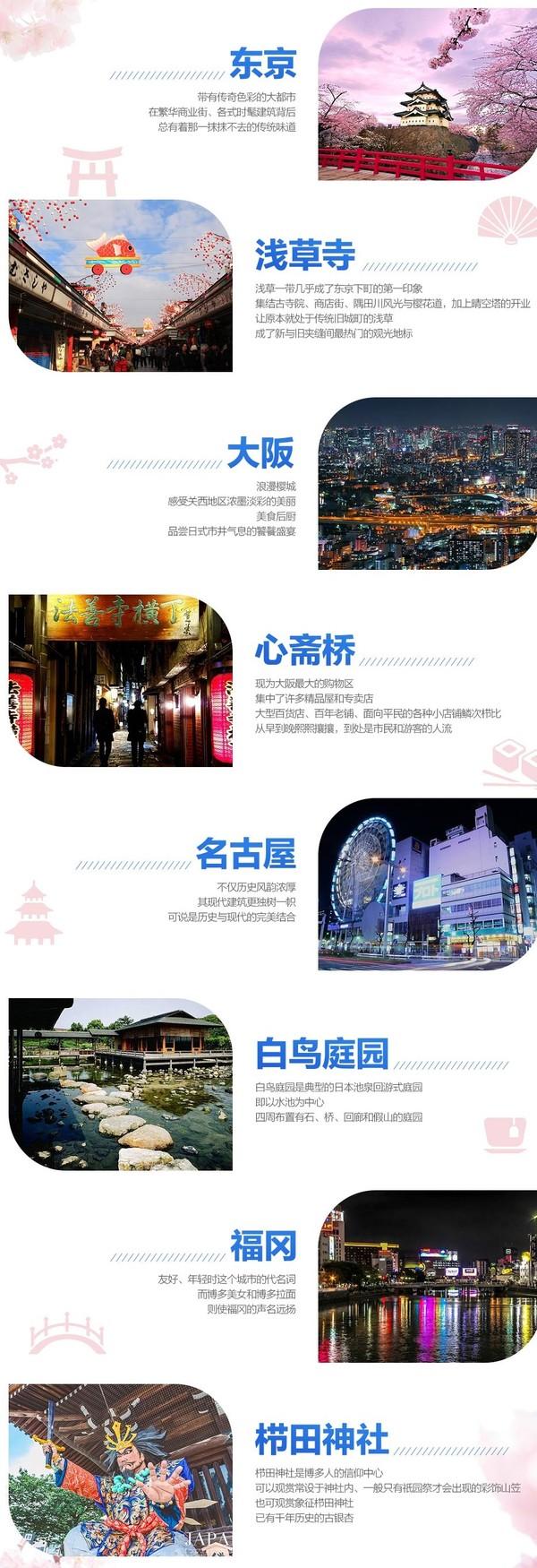 东方航空 北京-日本东京/大阪/名古屋/福冈2-4次往返机票套餐