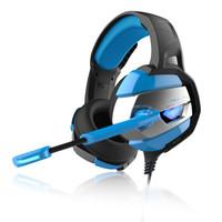 AULA 狼蛛 A1 头戴式游戏耳机 (黑蓝色、7.1声道)