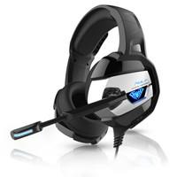 AULA 狼蛛 A1 头戴式游戏耳机 (银黑色、2.0声道)