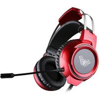 AULA 狼蛛 G91 头戴式7.1立体声游戏耳机 (红色)