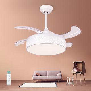 雷士led隐形风扇灯吊扇灯吊灯 隐形吊扇灯卧室客厅餐厅电扇风扇灯 直径85cm 25瓦 带遥控
