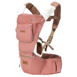 gb 好孩子 婴儿三合一腰凳背带 胭脂红