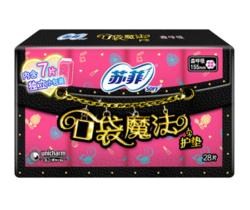 苏菲 口袋魔法美妆心情芳香感棉柔卫生护垫155mm 28片 *19件