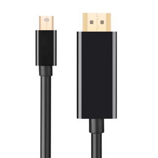 UGREEN 绿联 Mini DP转HDMI转换线 4K高清 (黑色、1.5米)