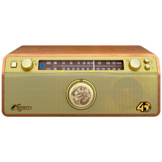 SANGEAN 山进 WR-12BT SE 蓝牙音箱/收音机 金色