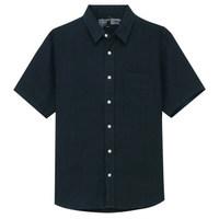 MUJI 无印良品 M8SC763 男士亚麻短袖衬衫