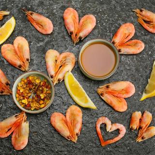 大洋世家 熟冻北极甜虾 60-75只 500g