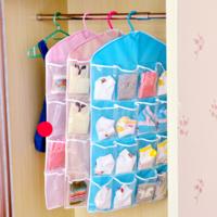 居家迷 透明16格衣柜挂式收纳袋 2个装