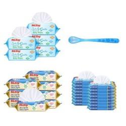 Nuby 努比 宝宝护肤生理盐水湿纸巾+勺子 *2件