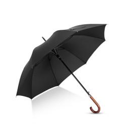 Hommy 超大男士英伦商务自动开弯柄伞 黑色 *3件 +凑单品