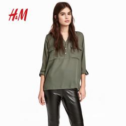 H&M HM0580674 女士V领衬衫