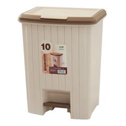 顺美 垃圾桶10L方形塑料垃圾筒手按脚踏两用式厨卫垃圾篓家用卫生桶 SM-4802 *2件