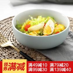 佳佰 陶瓷餐具 简餐沙拉碗 5.5英寸饭碗 *10件