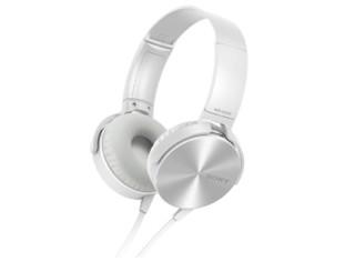 SONY 索尼 MDR-XB450APWQCN 头戴式耳机 白色