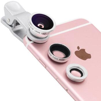猎奇 LQ-011 手机镜头 广角+鱼眼+微距套装 银色