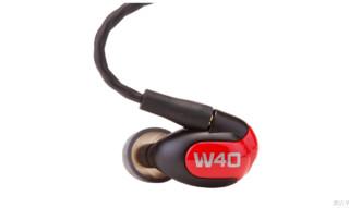 westone 威士顿 W40 四动铁高保真入耳式耳机 黑色