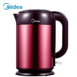 美的(Midea)电水壶热水壶电热水壶304不锈钢水壶双钢无缝烧水壶MK-H317E4