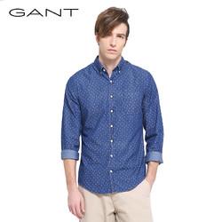 GANT/甘特早春 男士棉波点长袖休闲修身版衬衫 361302