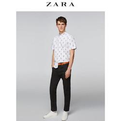 ZARA 09541312250 男士印花牛津短袖衬衫