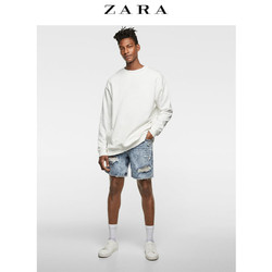 ZARA 男装 破洞装饰牛仔百慕大短裤 00840413406
