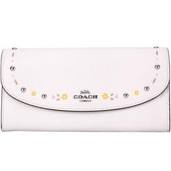 COACH 蔻驰 奢侈品 女士白色皮质长款钱包钱夹 F26786 SV/HA
