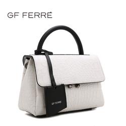 GF FERRE/吉弗新款鳄鱼纹牛皮革时尚个性斜跨手提包包单肩包4155