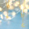 六福珠宝 L05TBGN0010 镂空月亮足金项链
