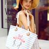 优哈夏天手提包女2018新款韩版大容量帆布袋子横条纹布包简约包包 59.9元