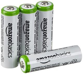 AmazonBasics 亚马逊倍思 AA镍氢充电电池 5号 4节装 2000mAh
