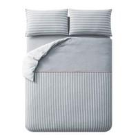 淘宝心选 尼特条纹全棉针织床上四件套 1.8m床