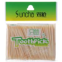 Suncha 双枪 YQ1120 竹牙签 (200支)
